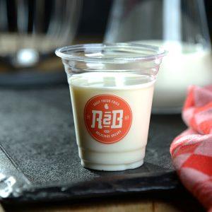 Beker halfvolle melk